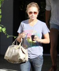 Hayden Panettiere With Her Beloved Coach Patent Large Sabrina Handbag