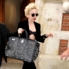Lady Gaga and Leather Tote