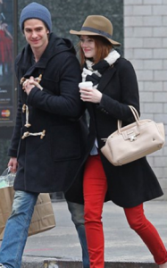Emma Stone with Lanvin Handbag
