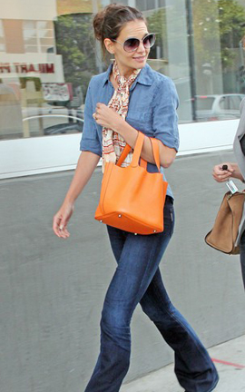 Katie Holmes With Hermes Bag
