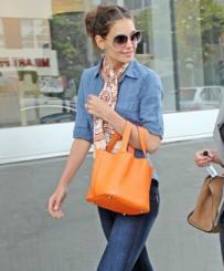 Katie Holmes with Hermes Bag
